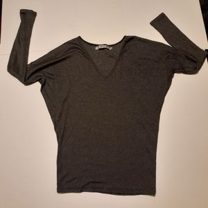 Michael Stars black/silver shimmery top
